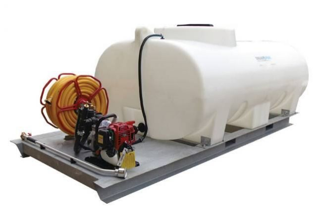1200 5000 litre skid mounted watering unit