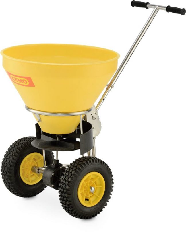50 litre push along grit spreader 10742 01 trolley
