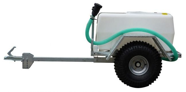 500 litre single axle site tow