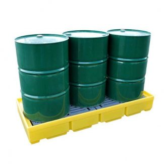 Romold BP3 - 3 Drum Barrel Bund Spill Pallet