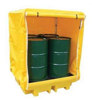 Romold BP4C - 4 Drum Bund Spill Pallet with Cover