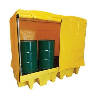 Romold BP8C - 8 Drum Bund Spill Pallet With Cover