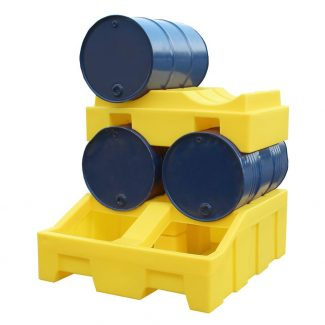 Romold DB4 - 4 Drum Bund Spill Pallet with DBC Stacker