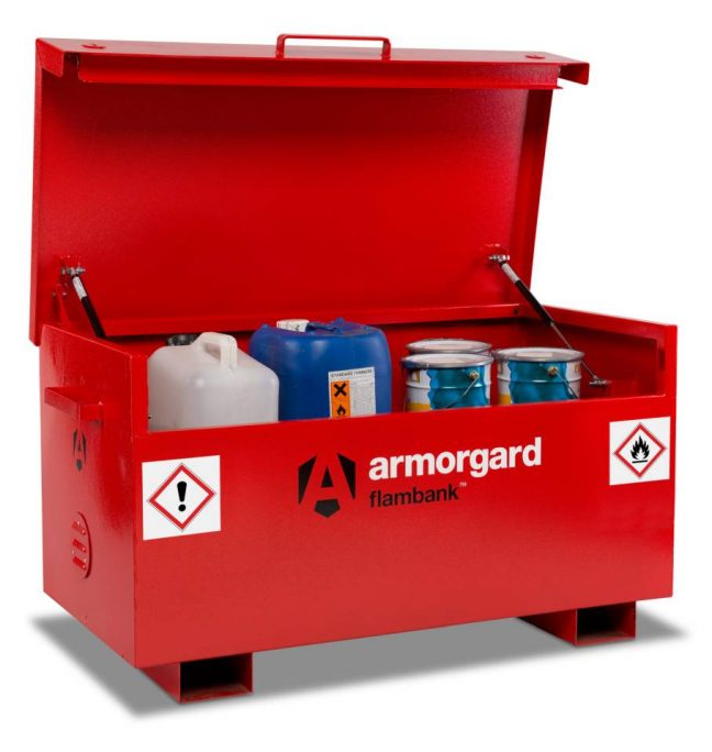 Fork lift Flambank fire resistant chest