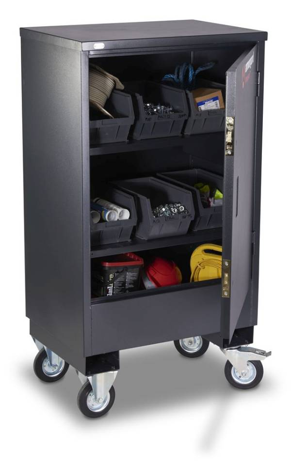 Rolling secure mobile cabinet