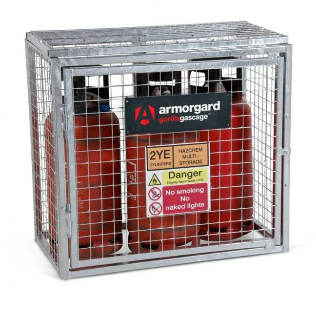 GGC1 Closed Gorilla Gas Cage Security Cage Gas Cylinders
