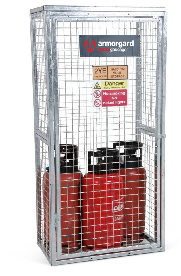 GGC3 Closed Gorilla Gas Cage Security Cage Gas Cylinders