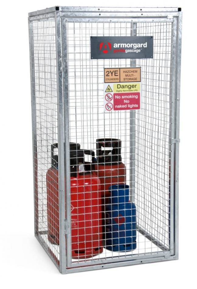 GGC5 closed Gorilla Gas Cage Security Cage Gas Cylinders