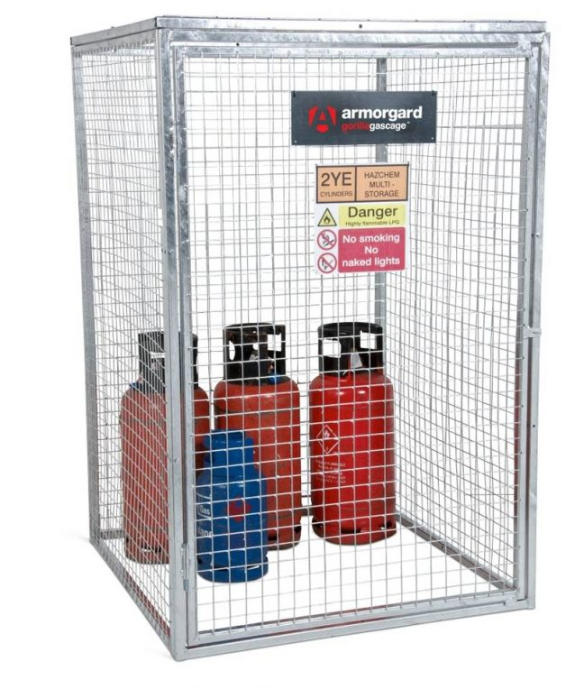 GGC6 Closed Gorilla Gas Cage Security Cage Gas Cylinders