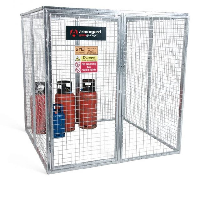 GGC9 Closed Gorilla Gas Cage Security Cage Gas Cylinders