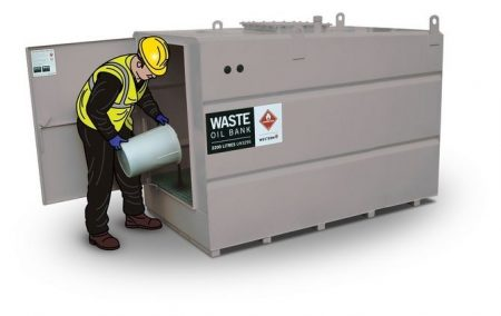 2670 Litre Waste Oil Tank - Steel Bunded