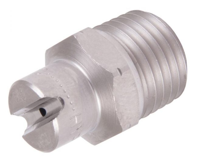 quarter inch 15 degree jet pattern nozzle N1501SS