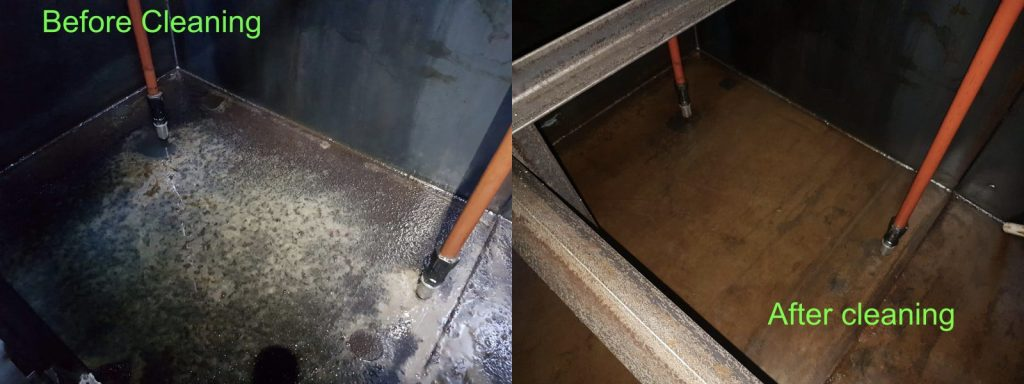 Tank Clean Before After