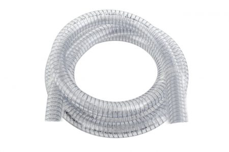 "1"" Clear Diesel/Oil Suction Hose 1m"