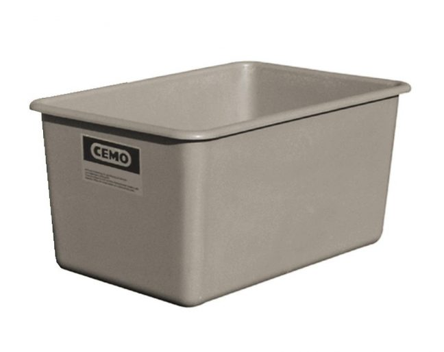 Grey plastic container