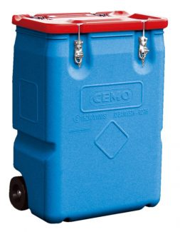 170L Mobile Box - Red Lid - CEMO