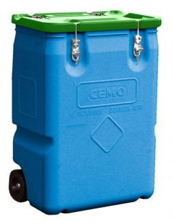 170L Mobile Box - Green Lid - CEMO