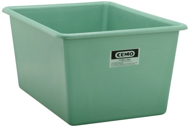 plastic container 1100 litre Standard green 1150