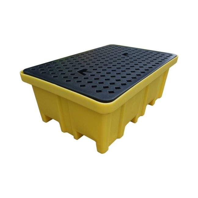 BP2FW 230 Litre Bund Pallet for 2 Drums with 4 way fork access 1