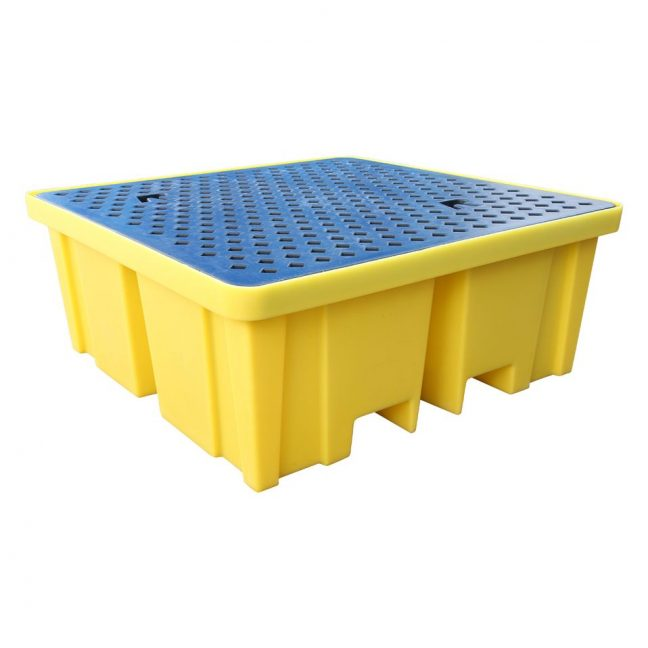 BP4XL Bund Pallet for 4 Drums with extra 440L Capacity