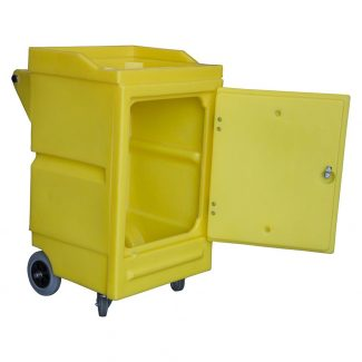 Mobile Spill Station on Wheels with Lockable Door