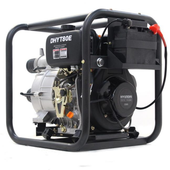 80mm Trash Water Pump electric start DHYT80E MAIN IMAGE