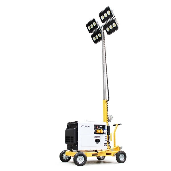 lighting tower hyundai mobile led with diesel generator