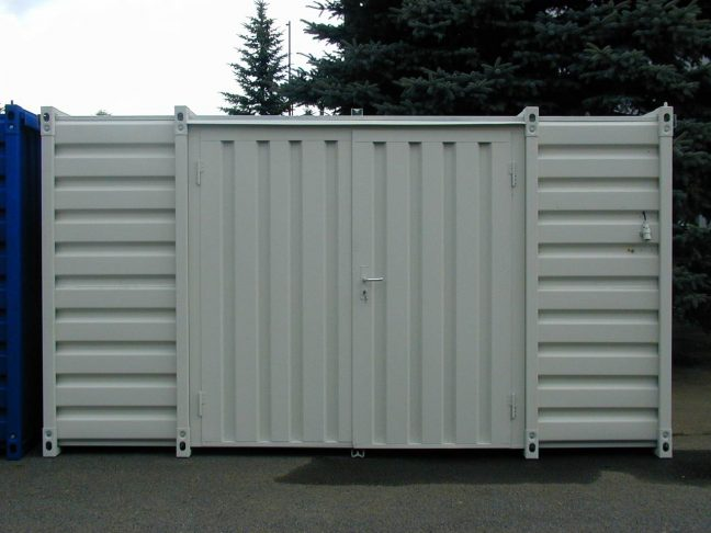 4m Flat Pack Container with Double Side Doors