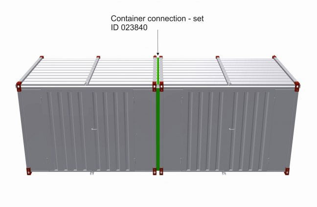 Container connection set