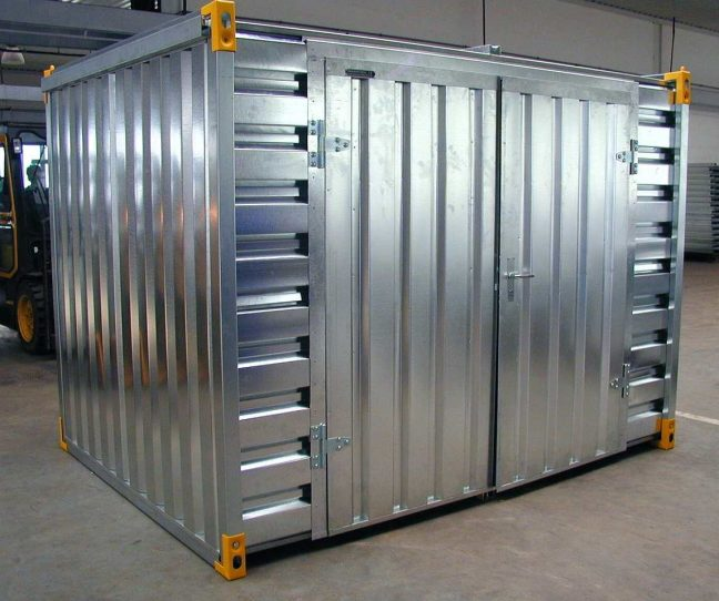 Flat Pack Container with Double Leaf Side Doors