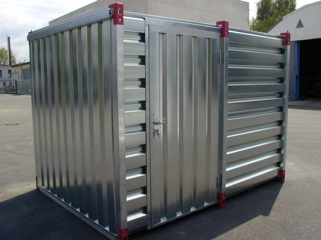 Flat Pack Container with Leaf Side Door