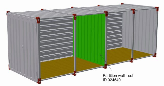 Partition wall set