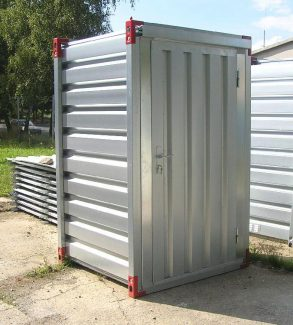 1.26x1.375m Container with Wooden Floor & Door