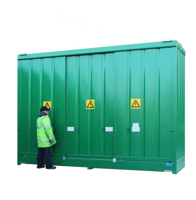 DPU24 6 Drum IBC Store with a Bund and capacity for 24 drums or 6 IBCs
