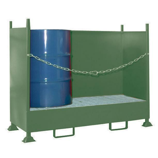 VD2 double drum spill pallet with 260 litre capacity bund