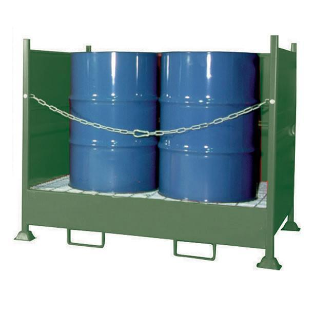 VD4 quad drum spill pallet with 370 litre capacity bund