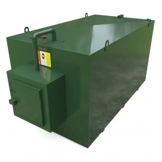 Atlantis - 10000 Litre Steel Bunded Oil Tank with Fill Point Cabinet