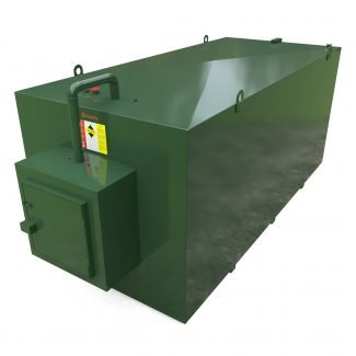 Atlantis - 12000 Litre Steel Bunded Oil Tank with Fill Point Cabinet