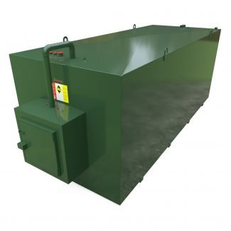 Atlantis - 18000 Litre Steel Bunded Oil Tank with Fill Point Cabinet