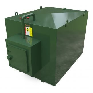 Atlantis - 7000 Litre Steel Bunded Oil Tank with Fill Point Cabinet