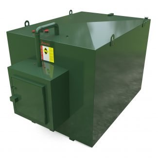 Atlantis - 7500 Litre Steel Bunded Oil Tank with Fill Point Cabinet -