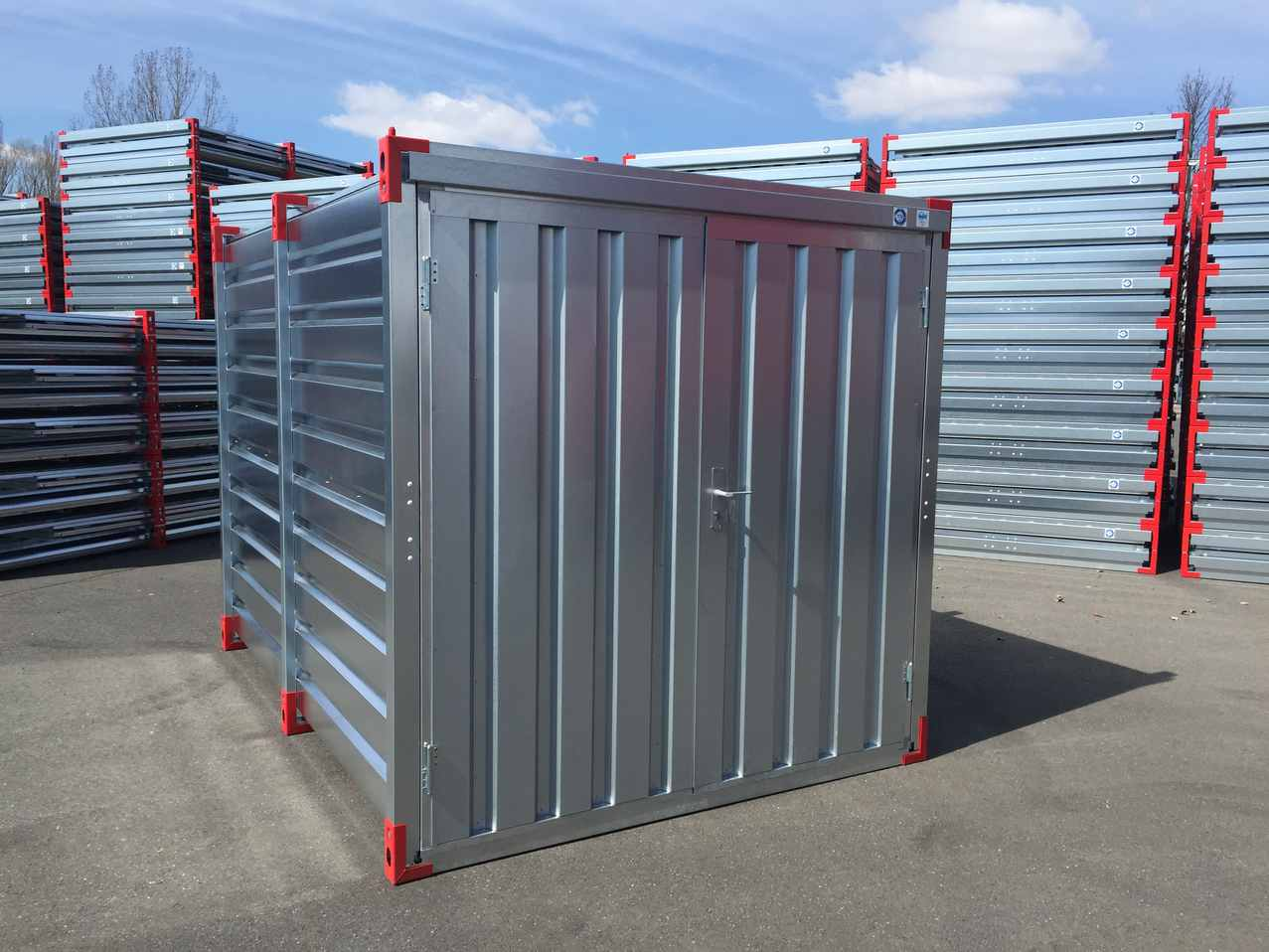 6m Storage Container with Double Leaf Front Door