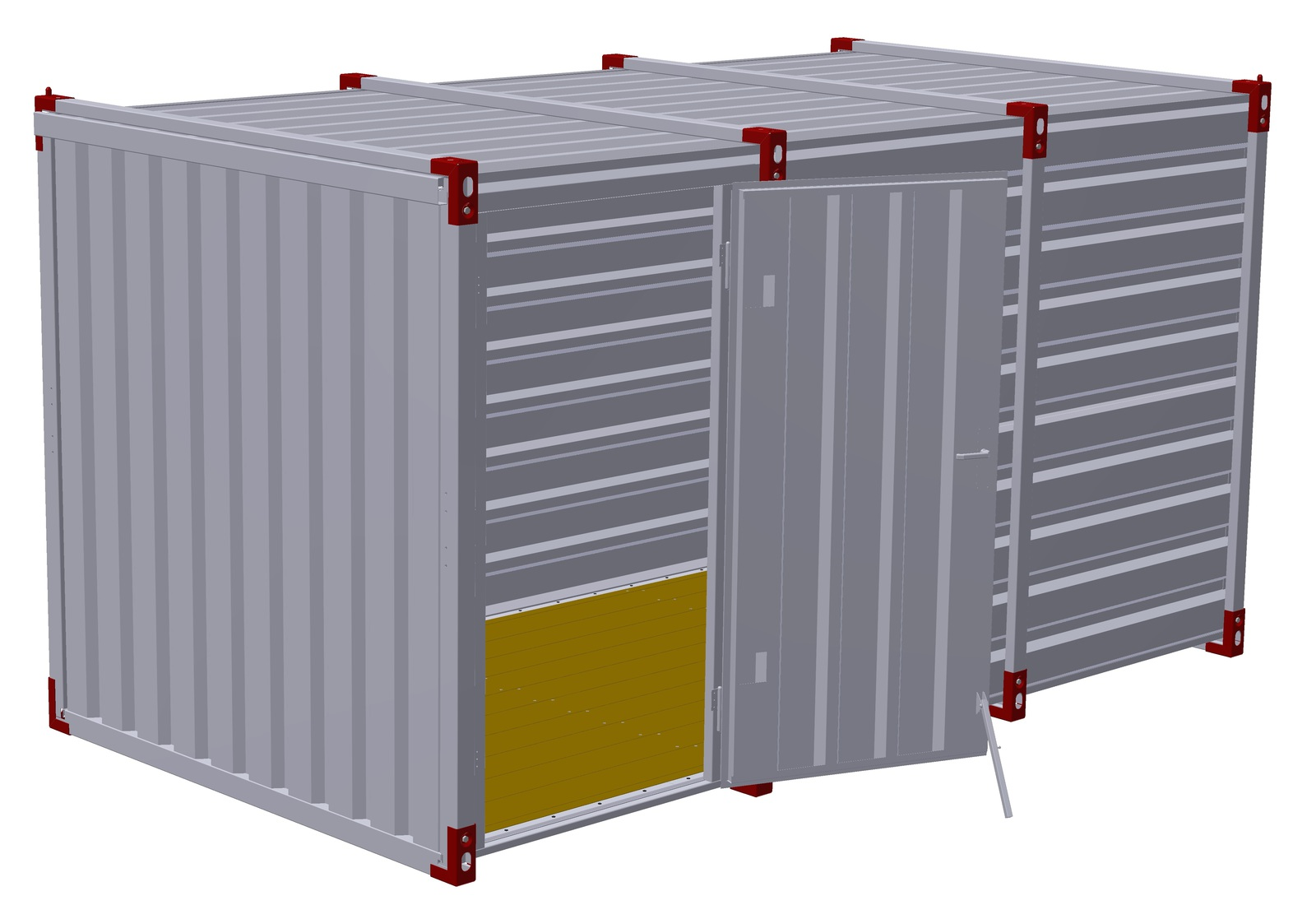 4m Storage Container with Single Side Door