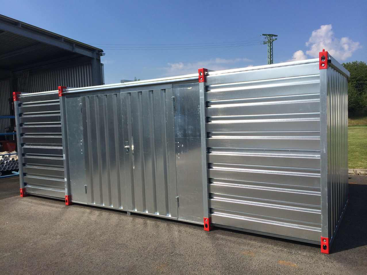6m Storage Container with Double Leaf Side Door