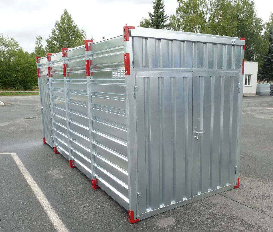 5m Storage Container – 2.43m Inner Height & Double Leaf Front Door