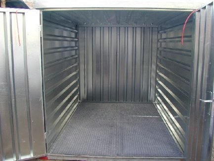 3m Storage Container with Bunded Floor, Air Grilles & Double Front Door