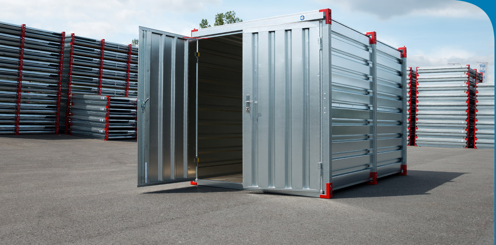 2.25m Storage Container with Bunded Floor, Grilles & Double Door