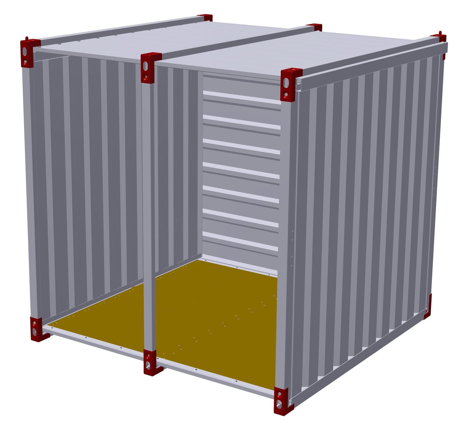 2.25m Storage Shed with Open Front