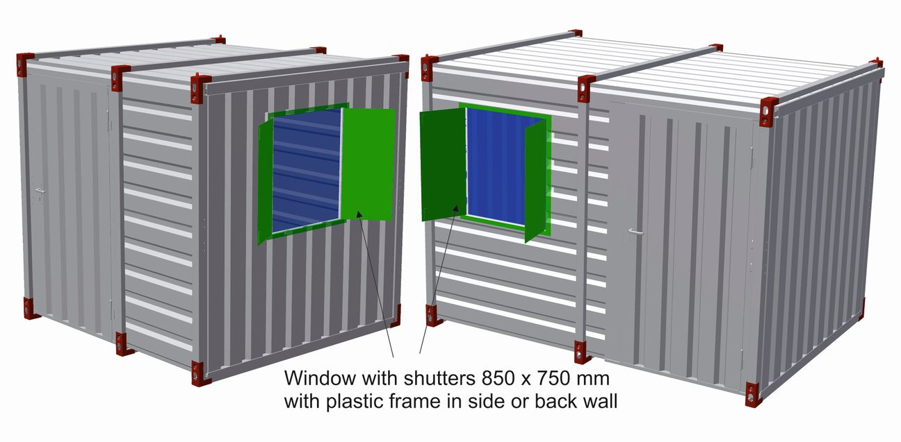 Shutter Windows with Plastic Frame