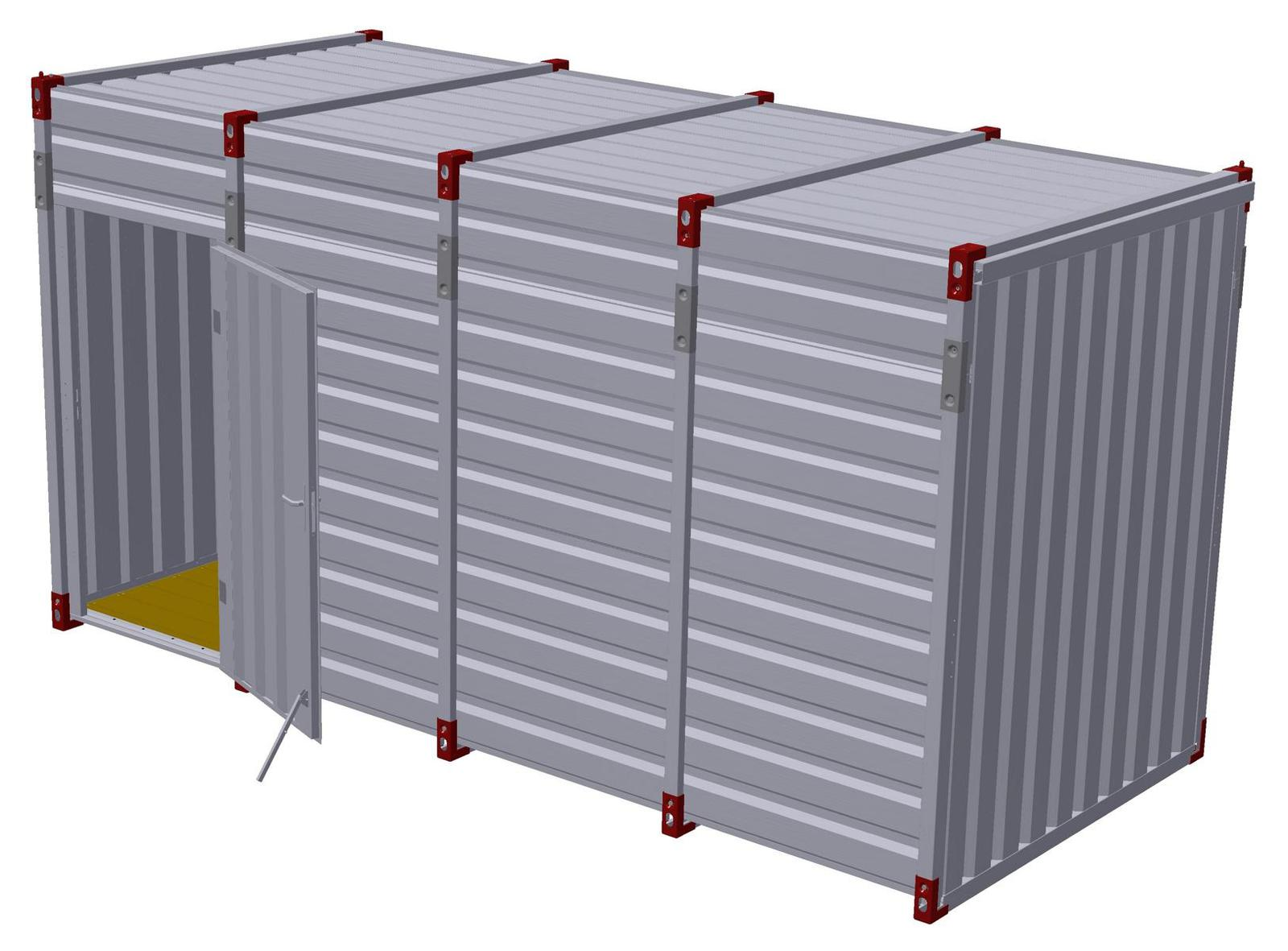 3m Storage Container - 2.43m Inner Height with Side Door